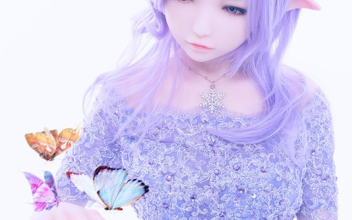 Doll Sweet DS-145 body style with ›NinaE‹ elf head - silicone
